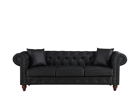 Black Leather Sofa | TMEG Productions Las Vegas Event Entertainment ...